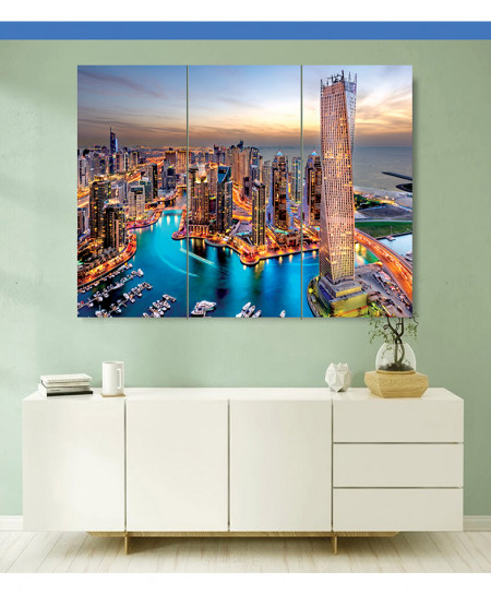 Beautiful City View Canvas Wall Frame BNS-131