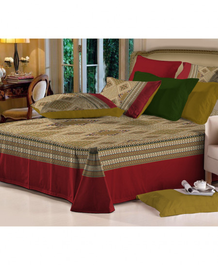 MultiColor Floral Style Cotton Bedsheet PBS-BD147