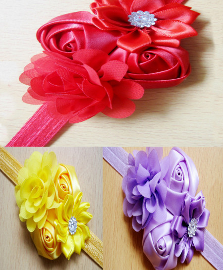 Pack Of 3 Classy Baby Girls Flowers Headbands SSA-8
