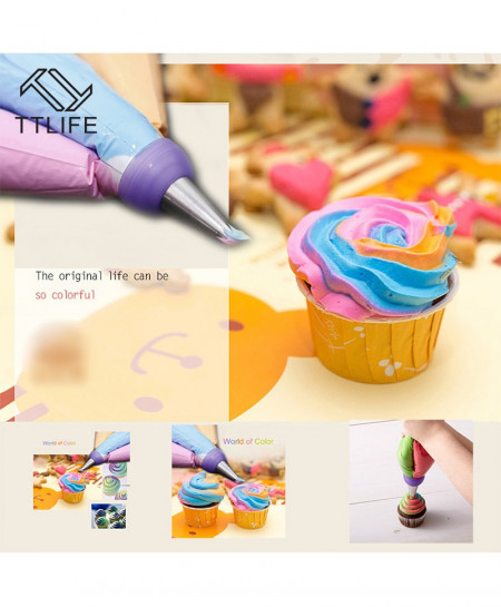 Pack of 5 TTLIFE Icing Piping Bag Nozzle