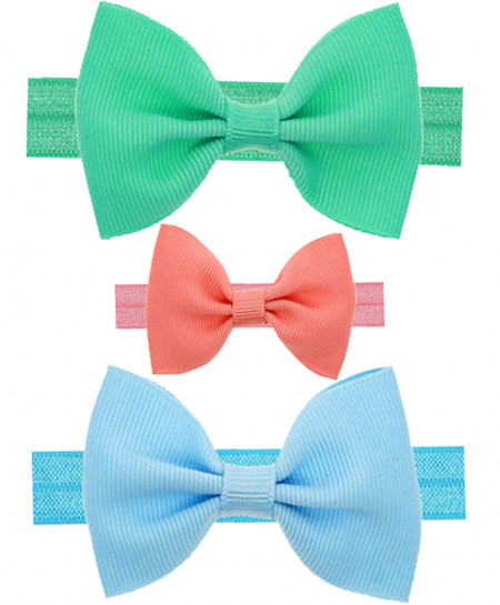 Pack Of 3 Turban Rabbit Bow Knot Baby Headbands SSA-19
