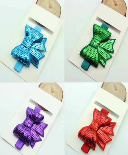 Pack Of 4 Baby Sequin Boutique Hair Bow SSA-26