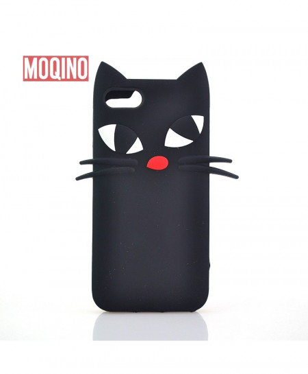iPhone 6 Plus Black Cat Silicone Case Cover