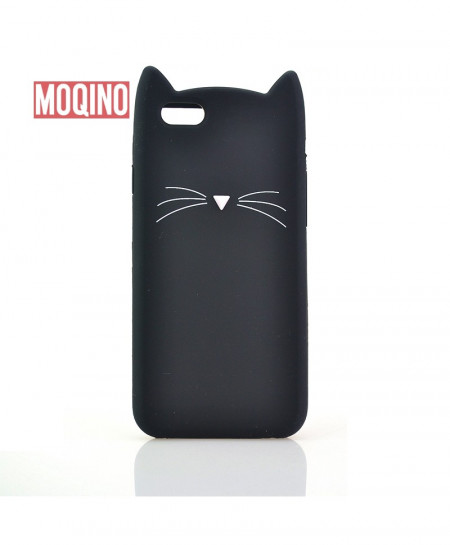 iPhone 7 Plus Cat Mustache Silicone Case Cover