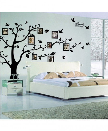 Black 3D Photo Family Tree Wall