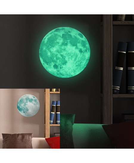 30cm Large Moon Luminous Wall Sticker