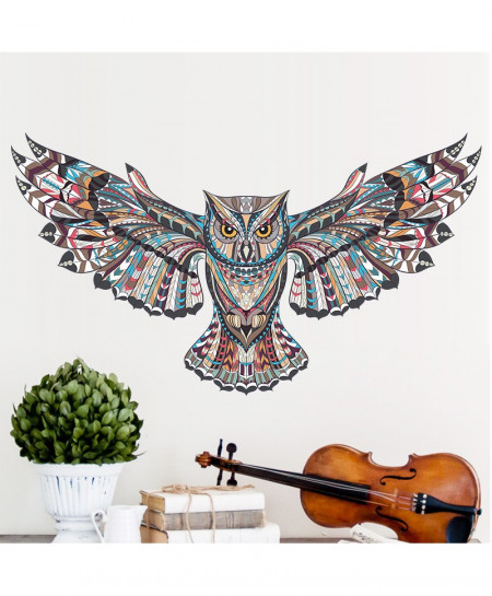 Colorful Owl Wall Stickers
