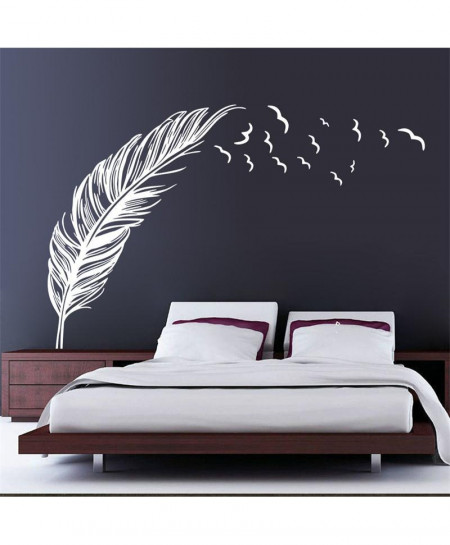 Flying Feather Wall Stickers