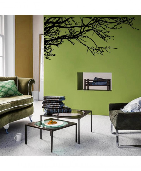 Mural Art Black Tree Branch Wall Sticker