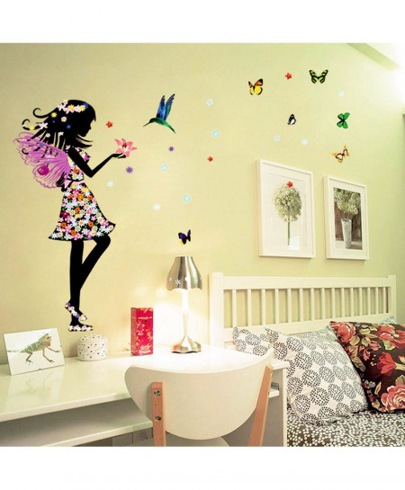 Beautiful Butterfly Elf Arts Wall Sticker