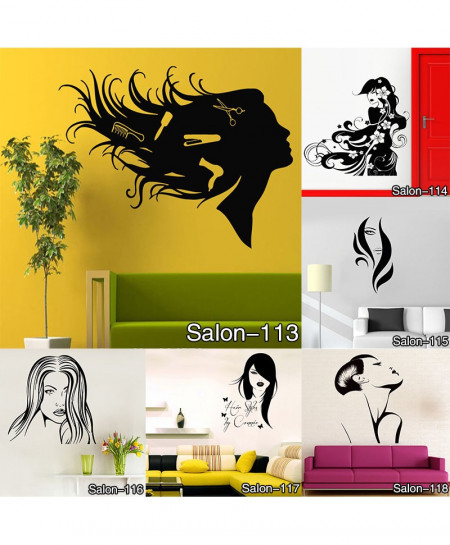 Girl Hairstyle Wall Sticker