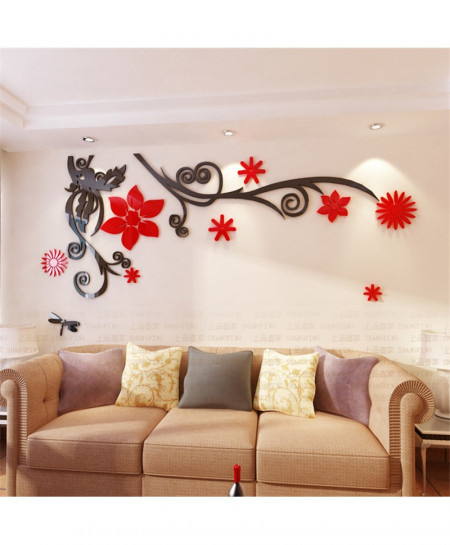 3D Flower Stereo Crystal Wall Stickers