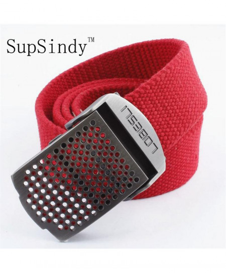 SupSindy Hollow Alloy Buckle Canvas Belt AT-712