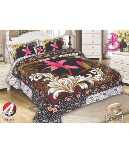 MultiColor Floral Pearl Cotton Bedsheet PBS-AB143