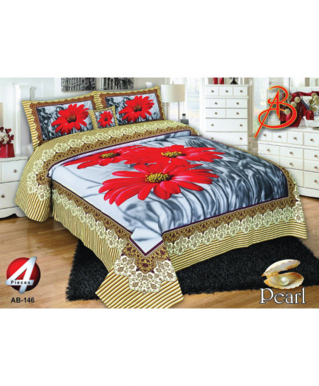 MultiColor Floral Pearl Cotton Bedsheet PBS-AB146