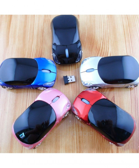 Blue Car Shape Wireless mouse 2.4Ghz