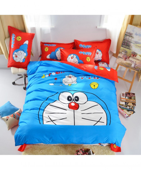 Doraemon 3d Bedding Set Duvet Cover Bed Sheet