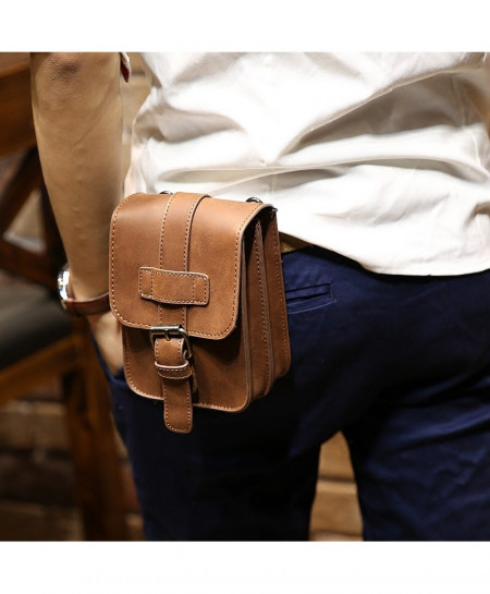 Retro Horse PU Leather Waist Bag AT-401