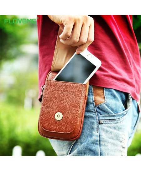 FLOVEME Universal 5.5 Leather Waist Bag AT-841