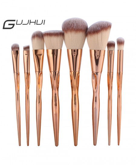GUJHUI Pro 8 Metal Makeup Brushes AT-381