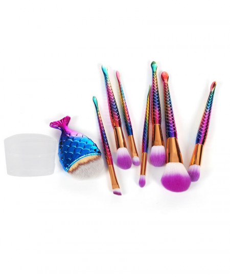 Mermaid Shaped 8 Makeup Brush Set AT-3891