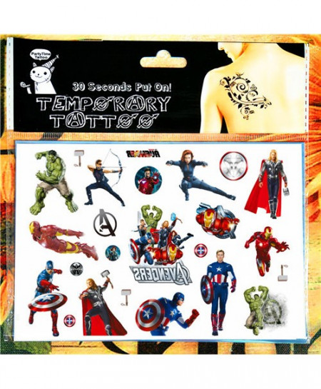 Pack of 3 Avengers Temporary Tattoo Face Stickers