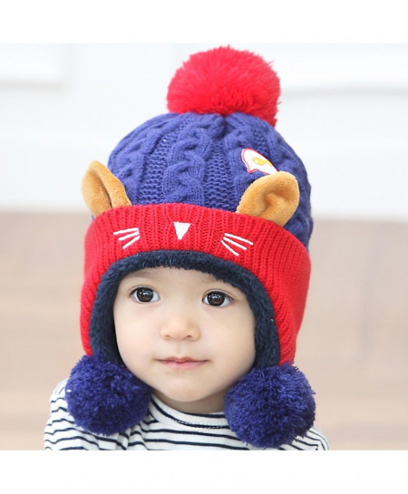 Buy Cat Ear Winter Crochet Knitted Baby Cap AT-381 online in ... 6f2ae552b