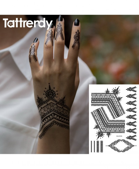 Black Henna Tattoos AT-4982