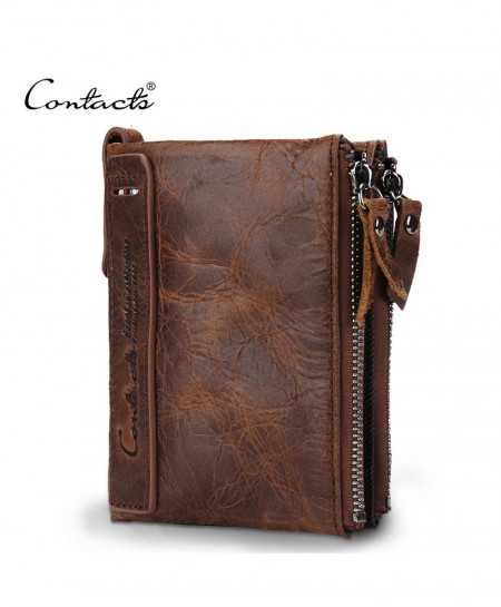 CONTACT Crazy Leather Designer Wallet T-471