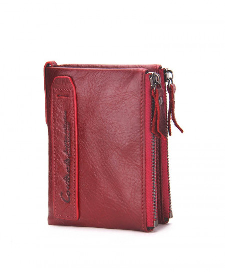 CONTACT Crazy Leather Designer Wallet T-472