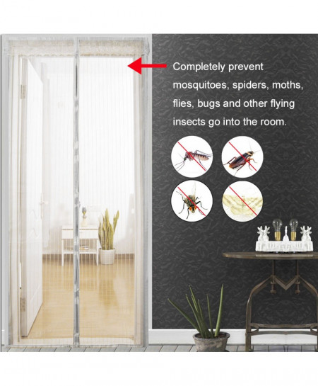 80x210 cm Magnets Door Curtain Mosquito Net AT-4881