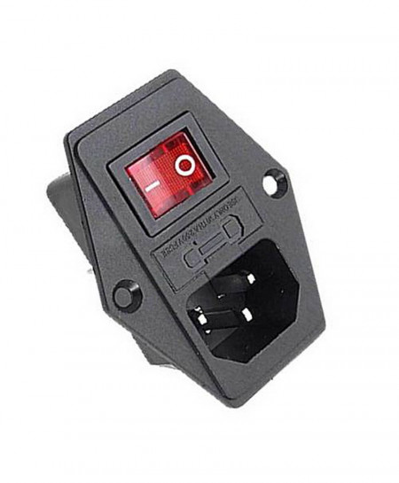 AC Power Cord Inlet Plug Socket With Rocker Switch AT-589