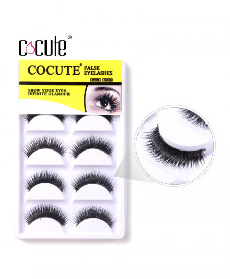 Cocute 5 Pairs Natural False Eyelashes AT-682