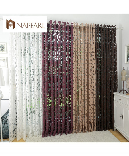 White Fashion style Semi-Blackout Grommet Top Curtains AR-188
