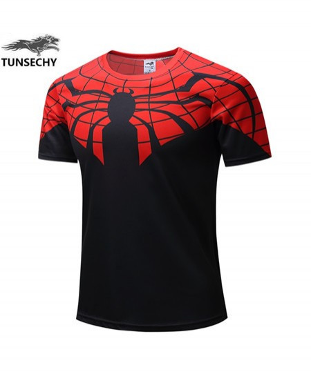 3D Printed Spider Man Fitness T-Shirts AT-480