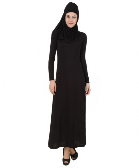Black Slim Fit Stylish Ladies Abaya FLK-328
