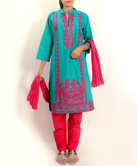 Emerald Embroidered Stylish Design Ladeis suit AKG-100