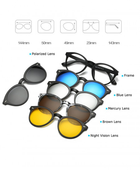 b9fefa5541 Buy 5 Pieces Clip On Polarized Magnetic Glasses AR-C03 online in ...
