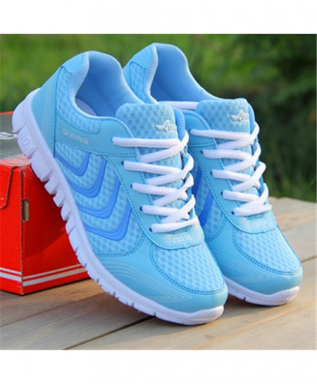 Sky Blue Trainers Sneakers Running Sport Shoes AT-5891