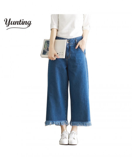 Jeans Capris Cropped Trousers Stretch Ladies Pants AT-382