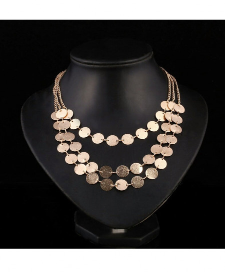 Golden Three Layers Necklace AM-352