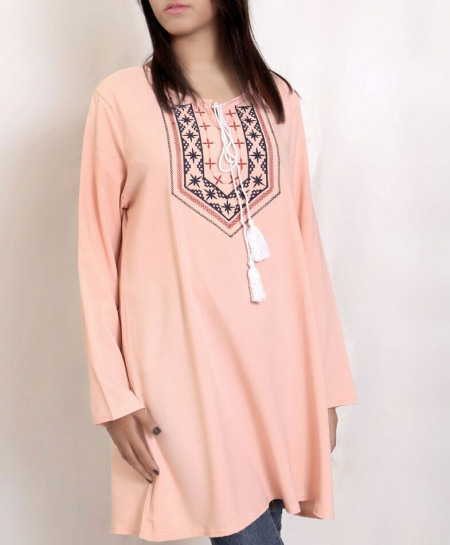 Pink Embroidered Women Tops PSW-68