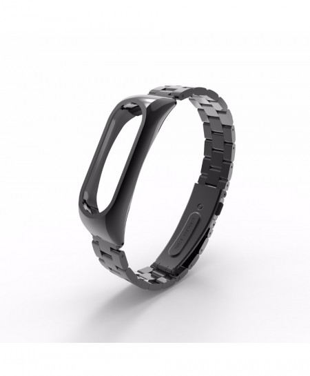 Black Metal Strap for Xiaomi Mi Band 2