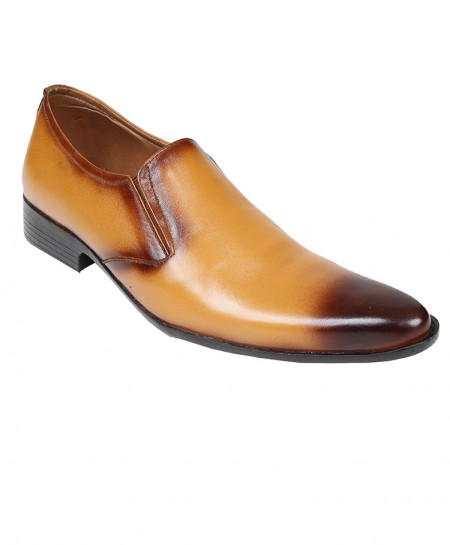 Mustard Leather Stylish Slip On Formal Shoes LC-5344M