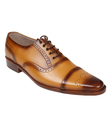 Mustard Brown Leather Formal Shoes LC-AL-5031