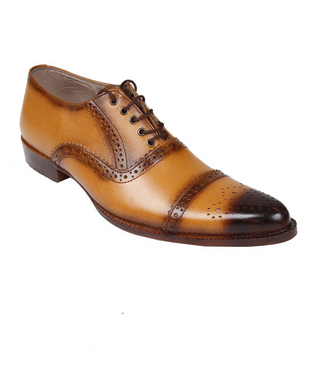 Mustard Brown Leather Formal Shoes LC-AL-5036