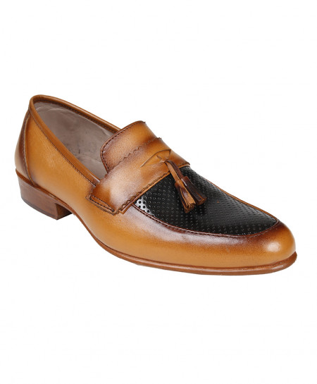 Mustard Brown Leather Shoes LC-AL-5037