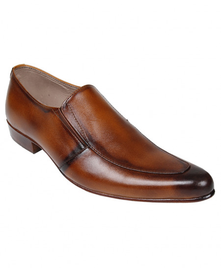 Brown Leather Formal Shoes LC-AL-5125BR