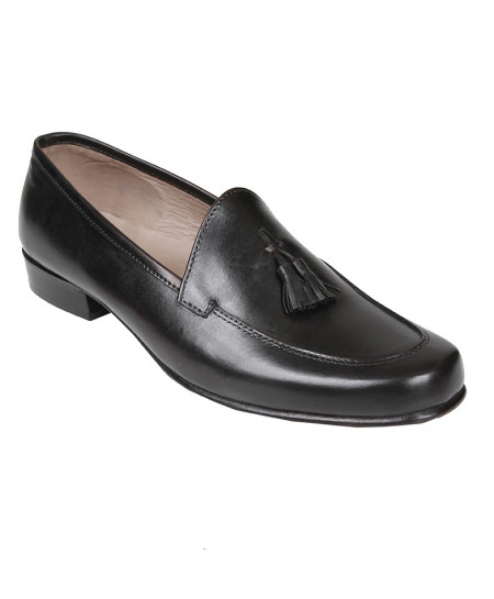 Black Leather Loafer Shoes LC-AL-5125