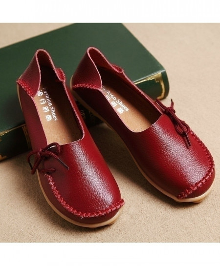 Dobeyping Moccasins Leather Flats Shoes AT-994